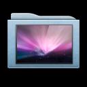 folder, wallpaper, blue icon