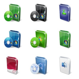 Vista Like Boxes icon sets preview