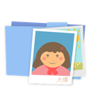 Blue, Folder, Pictures icon
