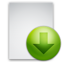 file, descend, fall, descending, down, decrease, paper, document, download icon