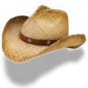 Hat cowboy straw icon
