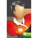 user, people, human, christmas, profile, account icon