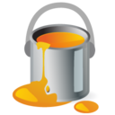 paintbucket,color,orange icon