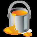 paintbucket,color,orange icon