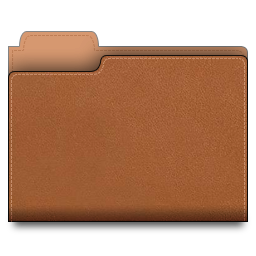 leather, brown, folder icon