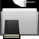 folder, library, graphite icon
