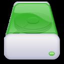 green, hard, drive icon