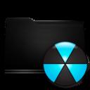 black,folder,burn icon