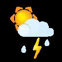 sun, flash, rain, littlecloud icon