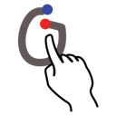 omicron, greek, stroke, gestureworks icon