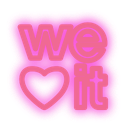 social, media, neon, set, weheartit icon