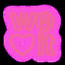 social, media, neon, set, weheartit icon