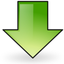 down, download, arrow icon