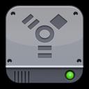 disk,silver,firewire icon