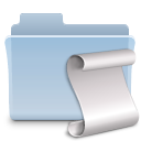 folder, badged, script icon