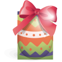 egg, green, ribbon, easter icon