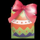 egg, green, ribbon, easter icon