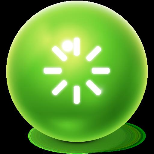 ball, bright, reboot icon