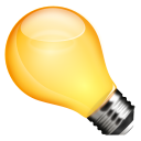 light bulb, tip, idea icon
