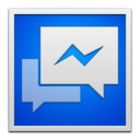 facebookmessenger,whiteframe icon