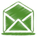 green mail open icon