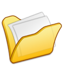 yellow, folder, mydocuments icon