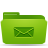 green, mail, folder icon