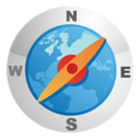 navigator, navigate, compass icon