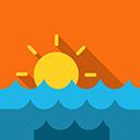 Sea sun icon
