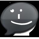 iChat Black Smile icon