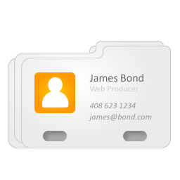 contact, address, card, vcard, profile, james bond, business card icon