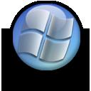 win, blue, trans icon