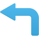 arrow turn left icon