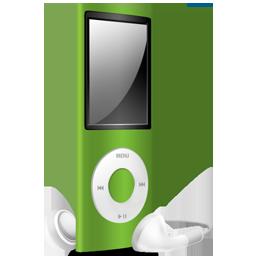 green, nano, off, ipod icon
