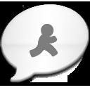 iChat Milk Black AIM icon