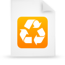 paper, orange, file, document icon