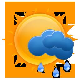 weezle, sun, rain icon