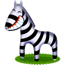 zebra, animal, cartoon icon
