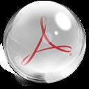 Acrobat, Glass icon