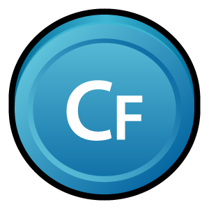 coldfusion, cs, adobe, badge icon