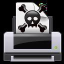 dead, error, skull, poison, printer, print, crossbones icon