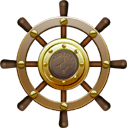 , Nautilus, Ship, Steering, Wheel icon