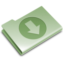 download,green,descending icon
