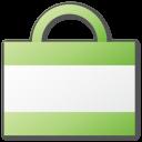 green, shopping, bag icon