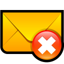 envelop, mail, email, remove, del, message, letter, delete icon