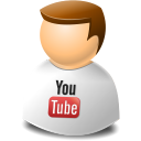 texto, User, Web, Youtube icon