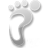 sense, htc, footprint icon