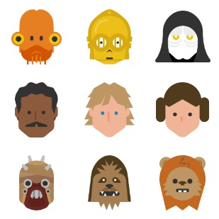 Star Wars - color icon sets preview