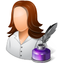 Occupations Writer Female Light icon