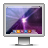 blaze, screen, glossy, light icon